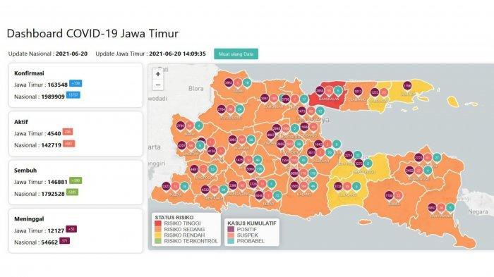 Update Virus Corona Surabaya 20 Juni 2021: COVID-19 Naik Dua Kali Lipat, Bangkalan Zona Merah