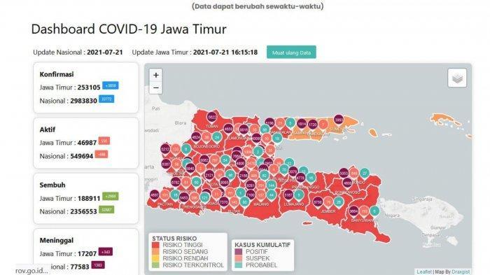 Update Virus Corona Surabaya 21 Juli 2021: Positif Covid Jadi 40.095, dan Jam Buka Mall Berubah