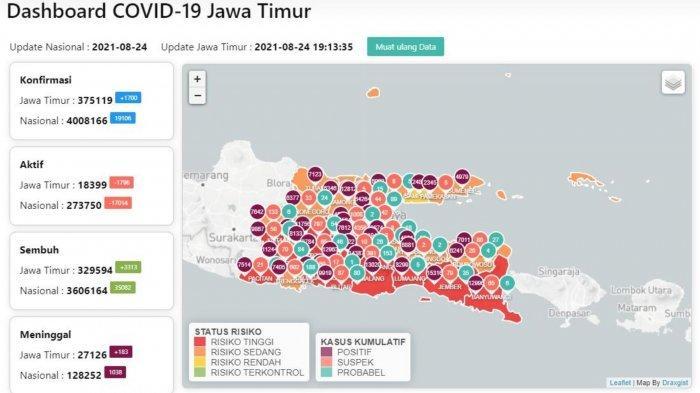Update Virus Corona Surabaya 24 Agustus 2021: PPKM Level 3 Berlaku, PTM Boleh Buka Terbatas