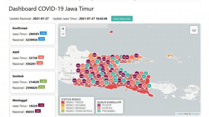 Update Virus Corona Surabaya 27 Juli 2021: Gubernur Khofifah Anjurkan Isolasi Terpusat