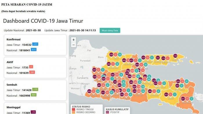 Update Virus Corona di Surabaya 31 Mei 2021, Ini Data Kenaikan Covid-19 di Jatim Pasca Lebaran