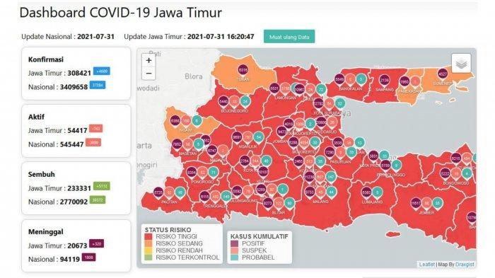 Update Virus Corona Surabaya 31 Juli 2021: Isoman Dilarang, Positif COVID-19 Isolasi di Rumah Sehat