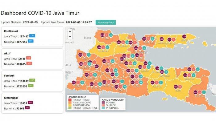 Update Virus Corona Surabaya 10 Juni 2021