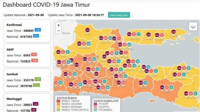 Update Virus Corona Surabaya 9 September 2021: Tambah 293, Daftar Daerah PPKM Level 2-4 di Jatim