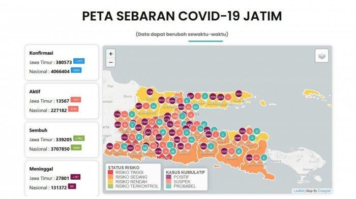 Update Virus Corona Surabaya 28 Agustus 2021: Jatim Boleh Gelar PTM, Berikut Syaratnya