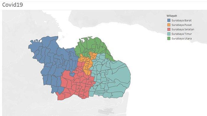 Update Zona Merah di Surabaya, Kamis 30 Juli 2020: Sembuh Capai 5001, Total 8553 Virus Corona