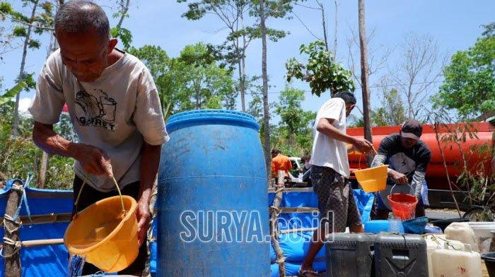 Sempat Diguyur Hujan, Suplai Air Bersih ke Daerah Kekeringan Trenggalek Terus Berlanjut