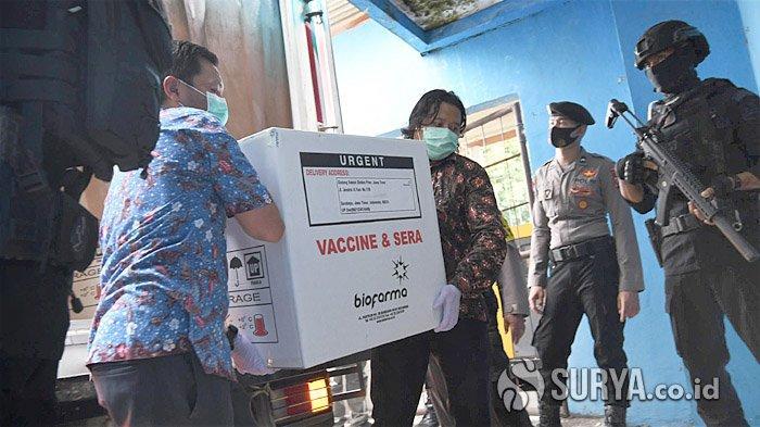 77.760 Vaksin Covid-19 Tiba di Jatim, Gubernur Khofifah: Baru Cukup untuk 19,79 Persen SDM Kesehatan