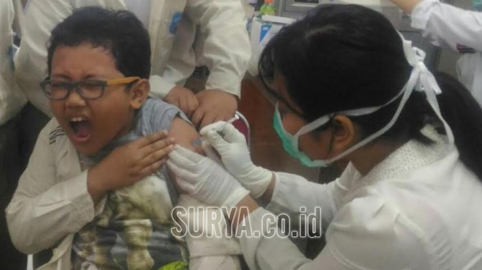 Imunisasi Difteri Tahap Dua di Kota Surabaya Capai 58,04 Persen