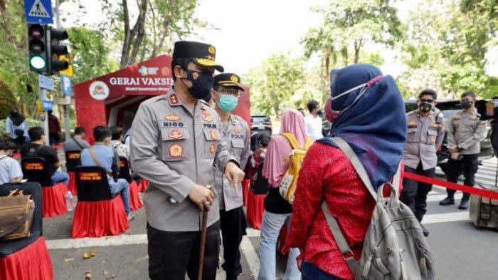 Genjot Percepatan Herd Immunity, Polda Jatim Telah Layani Vaksinasi Covid-19 7.538 Warga