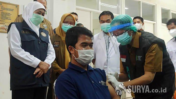 19 Daerah di Jatim Rampungkan Vaksinasi Dosis Pertama SDM Kesehatan