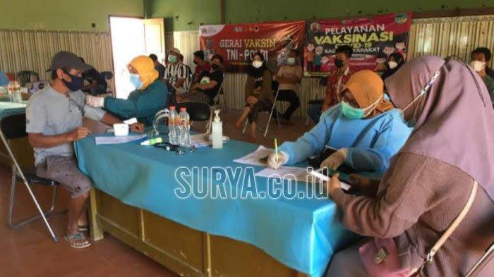 Masyarakat Empat Desa di Kecamatan Tambakboyo Tuban Antusias Ikuti Vaksinasi Covid-19