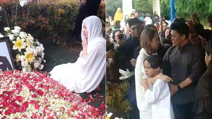 VIDEO Ariel Noah Datang ke Pemakaman Ashraf Sinclair, Beri Pelukan untuk BCL yang Menangis
