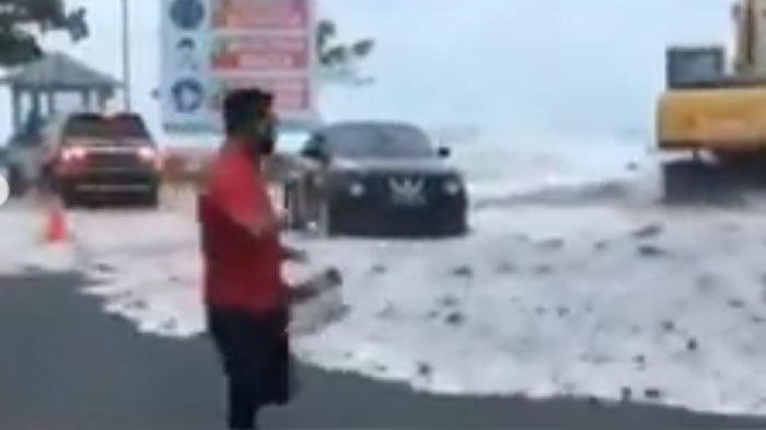 VIRAL Video Gelombang Tinggi Mirip Tsunami Terjang Pantai Manado Bikin Panik, BMKG Beber Penyebabnya