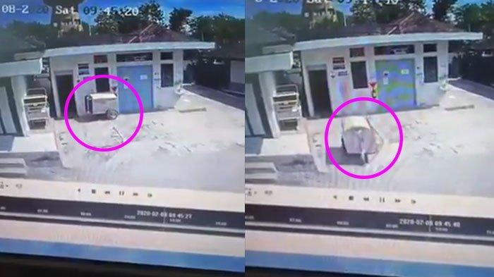 Video Viral Gerobak Sampah Jalan Sendiri di RSUD Wonosari, Sebelumnya Heboh Gerobak Mie di Madiun