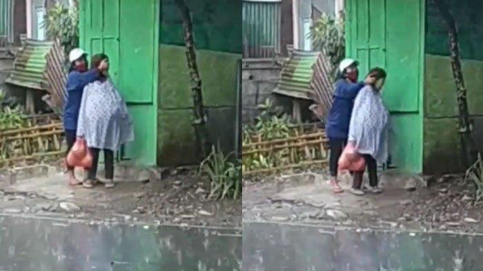 VIRAL Video Detik-detik Nenek Dianiaya Wanita Muda di Dekat Pasar Mergan Malang, Polisi Bertindak