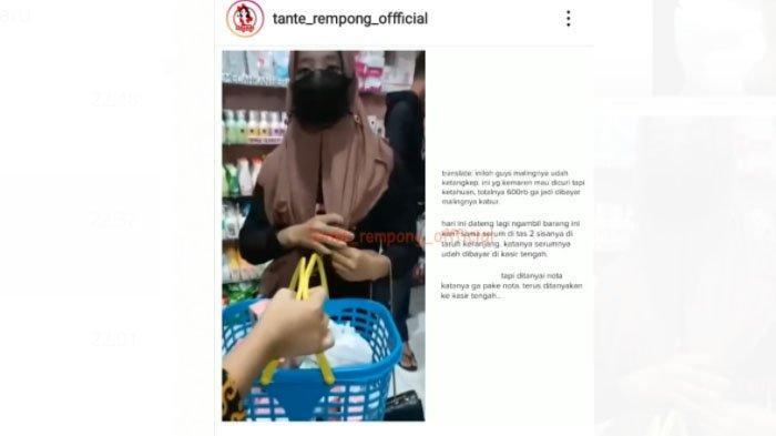 Video saat ND, cewek Tulungagung yang mencuri skincare viral di media sosial.