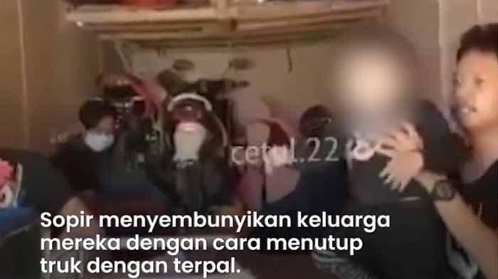 VIDEO Sekeluarga Sembunyi di Bak Truk Saat Mudik Lebaran ke Ponorogo, Dicegat di Exit Tol Ngawi