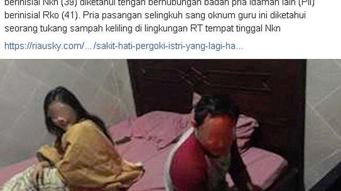 VIRAL Bu Guru Digerebek Berzina dengan Pemulung di Malam Takbiran, Kapolsek Menduga Hoaks