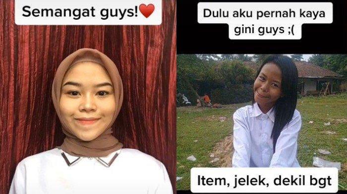 Kecantikan Cewek Bogor Berubah Drastis Setelah Dibully, Kini Jago Make Up, Videonya Viral di TikTok