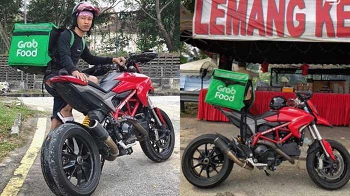 VIRAL Driver GrabFood Pakai Ducati Seharga Rp 240 Juta, Sekali Antar Habiskan Bensin Rp 100.000