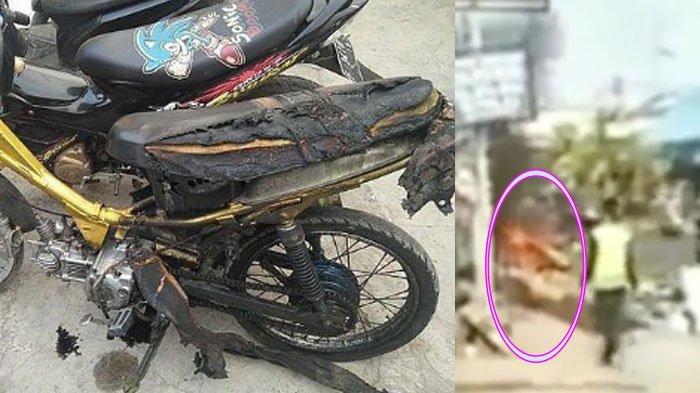 Viral Lagi, Pemuda Bakar Motor saat Ditilang di Depan Orangtuanya, Takut Parah Gara-gara Hal ini