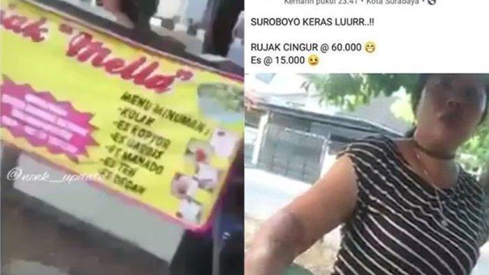 VIRAL Rujak Cingur Kaki Lima Seporsi Rp 60 Ribu di Surabaya Ditertibkan Satpol PP