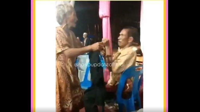 VIRAL VIDEO Nenek dan Kakek Berkelahi Gara-gara Biduan Cantik, Angkat Kursi dan Ludahi Wajah