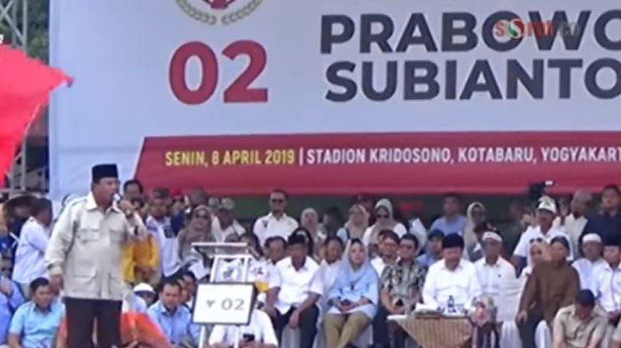 VIRAL VIDEO Prabowo Gebrak Meja hingga Mic Terpental saat Orasi Antek Asing, ini Reaksi Amien Rais