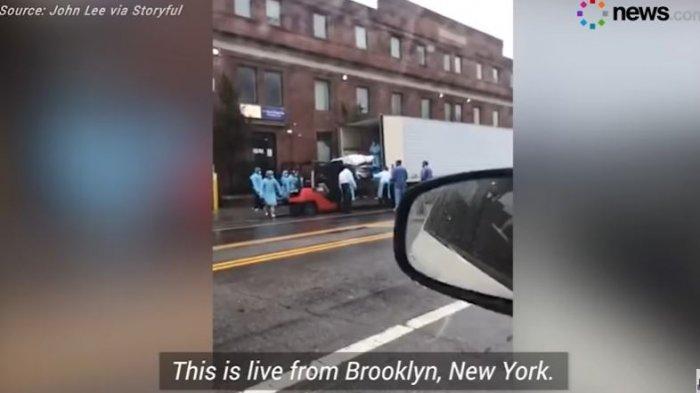 Viral Video Puluhan Jenazah Covid-19 Dimasukkan Truk Berpendingin di New York, 914 Orang Meninggal