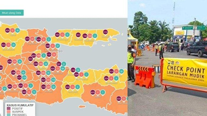 Update Virus Corona di Surabaya 12 Mei & Info Larangan Mudik: Daftar Pos di Titik Penyekatan Jatim