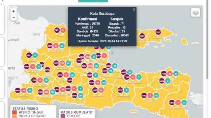 Update Virus Corona di Surabaya 14 Oktober: Covid-19 Tambah 10, Penumpang di Bandara Juanda Melonjak