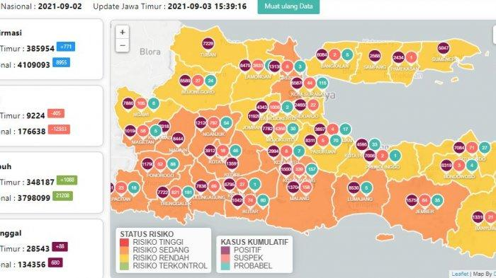 Update Virus Corona di Surabaya 3 September: Covid-19 Naik 95 dan Dampak PPKM Level 3 di Jawa Timur