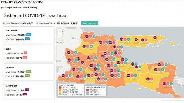 Update Virus Corona Surabaya, Sabtu 5 Juni 2021: Kasus COVID-19 di Lumajang Melonjak Pasca Liburan