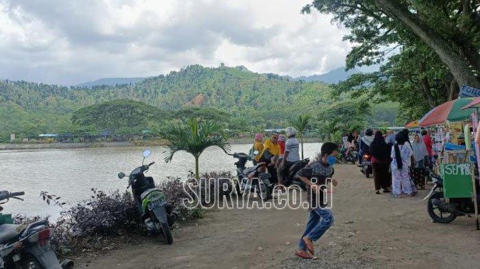 Waduk Siman di Kecamatan Kepung, Kabupaten Kediri jadi alternatif wisata masyarakat liburan awal tahun baru 2021.