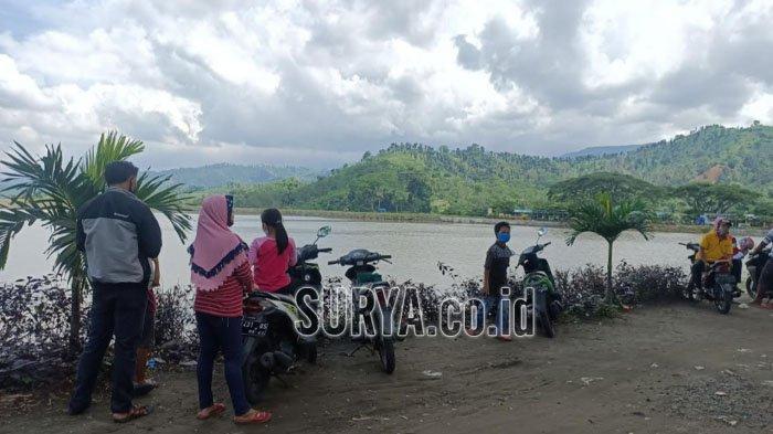 Nikmati Indahnya Pemandangan Gunung Kelud dari Tepi Waduk Siman Kabupaten Kediri