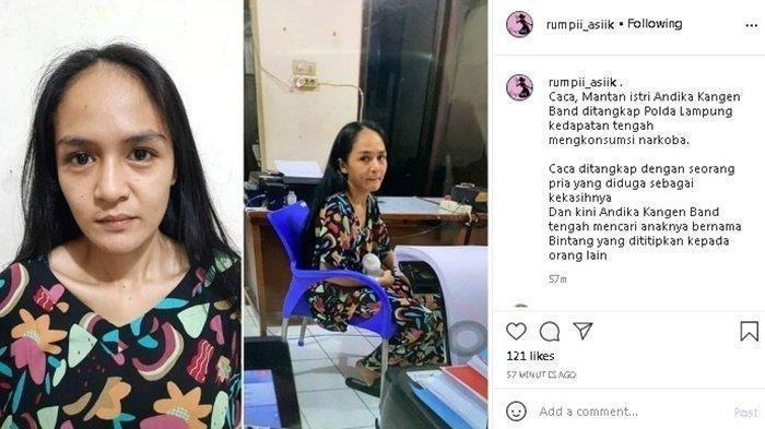 wajah Caca, mantan istri Andika eks Kangen Band saat ditangkap