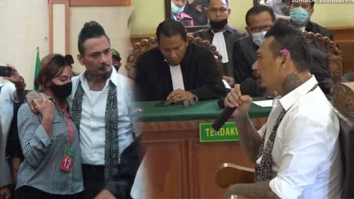 Wajah Jerinx SID Muram, Diam dan Hanya Peluk Istri Usai Divonis 14 Bulan Penjara & Denda Rp 10 Juta