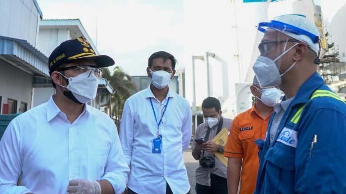 Pastikan Ketersediaan Oksigen untuk RS, Wagub Emil Kunjungi PT Linde Indonesia, Gresik