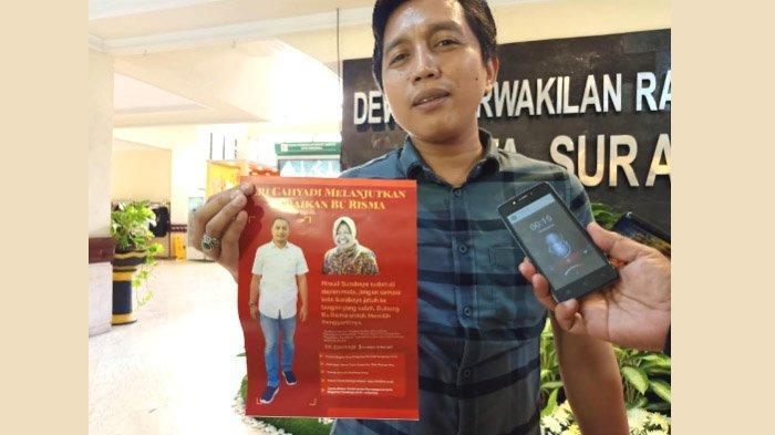 Pilwali Surabaya 2020: Beredar Pamflet Eri Cahyadi Melanjutkan Risma, Disoal Wakil Ketua Fraksi PKB