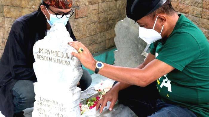 Jelang Ultah Ke-94 Persebaya Surabaya, Wawali Surabaya Cak JiZiarah ke Tokoh Pendirinya
