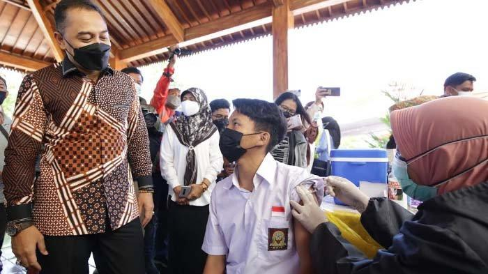 26 Persen Siswa di Surabaya telah Disuntik Vaksin, Wali Kota Eri Cahyadi Optimistis Oktober Tuntas