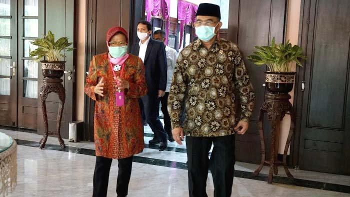 Dikunjungi Menko PMK Muhadjir Effendy, Walikota Risma Paparkan Beberapa Program Penanganan Covid-19