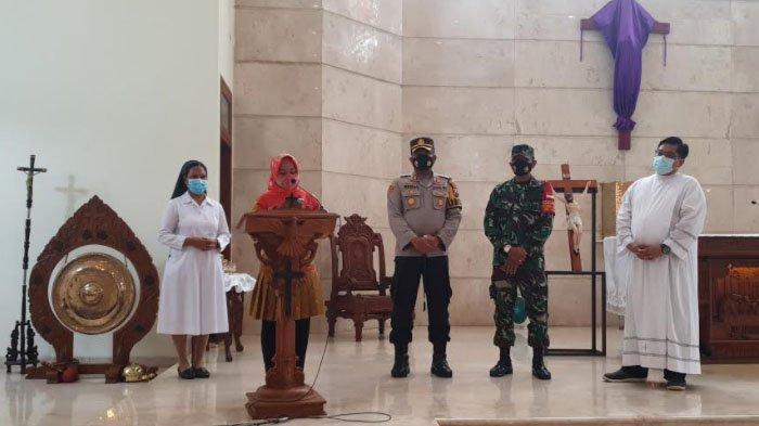 Walikota Mojokerto Ita dan Kapolres Pantau Pengamanan Ibadah Jumat Agung di Gereja ST.Yosef