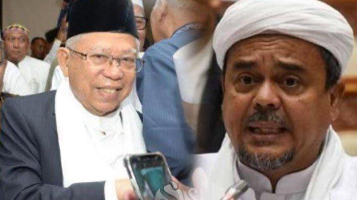 Alasan Wapres Maruf Amin Mau Bertemu Rizieq Shihab hingga Memicu Pro Kontra dan Trending Twitter