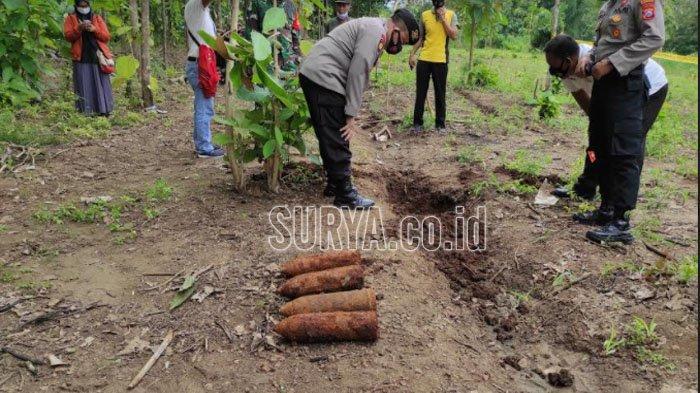 BREAKING NEWS Petani Ponorogo Temukan Empat Mortir saat Bersih-bersih Ladang