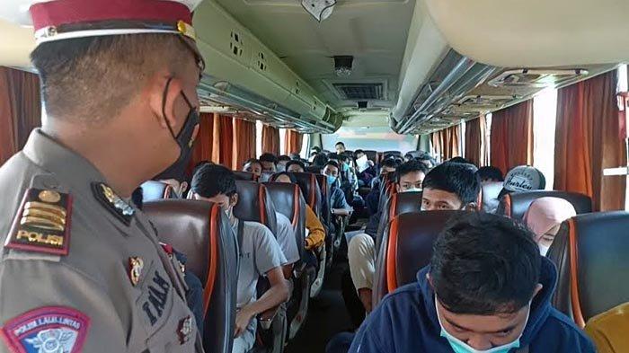 Nyaris Lolos, Pekerja dari Jakarta Naik Bus Hendak Mudik ke Ponorogo, Akhirnya Putar Balik