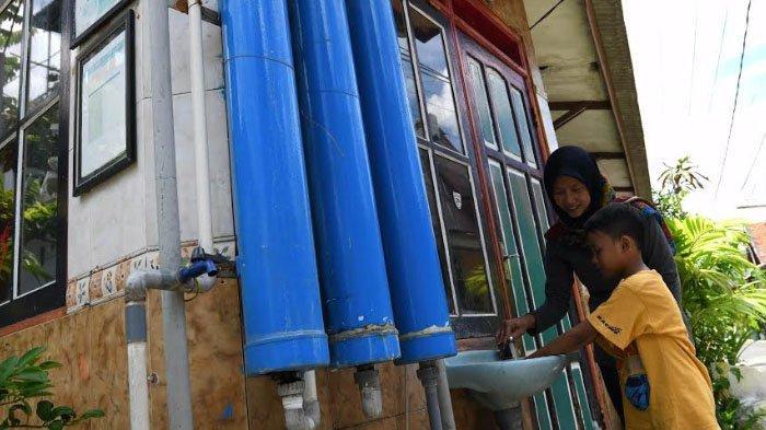 Warga RT 4 RW 10 Kelurahan Gundih, Bubutan, Surabaya Galakkan Cuci TanganManfaatkan Air IPAL