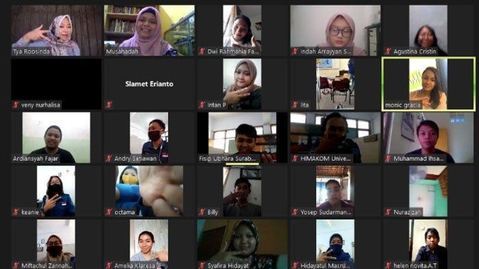 Workshop Jurnalistik Online Himakom Ubhara Surabaya Hadirkan Pembicara Profesional, Peserta Antusias
