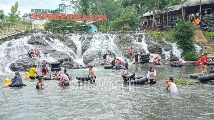Wisata Alam Sumber Maron, Desa Karangsuko, Kabupaten Malang dibanjiri pengunjung pada libur Pilkada, Rabu (9/12/2020)